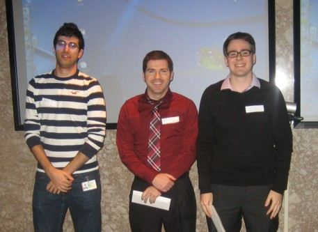 Scholarship recipients Ryan Nader and Ray Caron and Michal Kolaj.