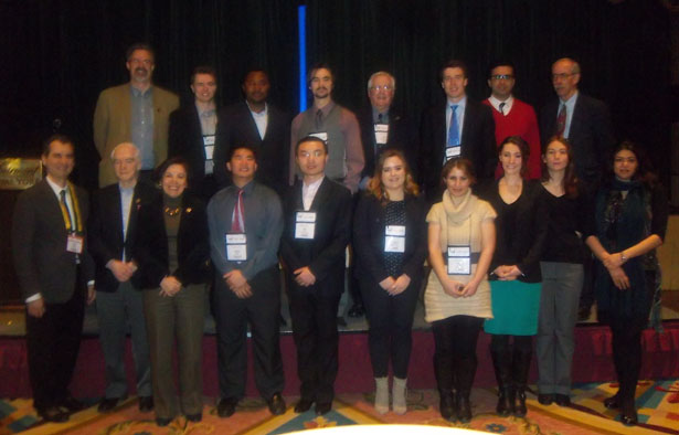 Scholarship Students and Foundation Directors attending the 2013 KEGS Breakfast (March 5, Toronto)