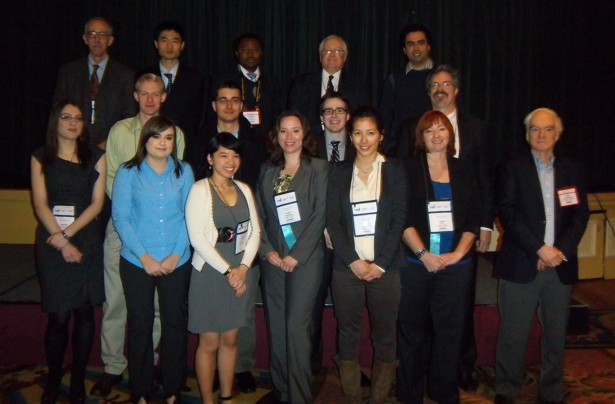 Scholarship Students and Foundation Directors attending the 2012 KEGS Breakfast (March 3, Toronto)