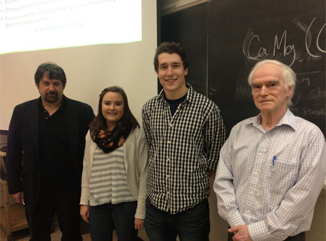Ted Urbancic, Jessica Steeves, William Smith, and Yves Lamontagne.