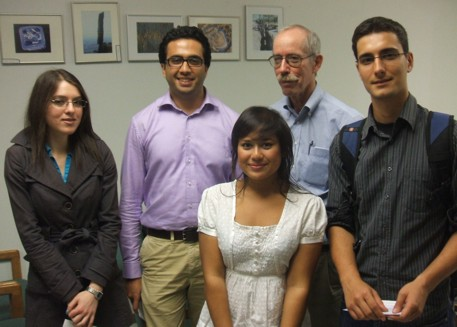 UofT scholarship recipients at award presentation at October KEGS meeting.