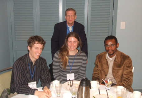 Scholarship students attending BCGS/KEGS Breakfast at Exploration Round Up in Vancouver Jan 19