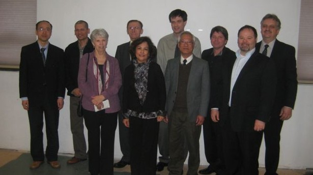 Past and Current Employees at Memorial Service (L to R: Steve Wang, Gavin Caspersz, Linda Dadd, Heinz Grunenberg, Carmelita Rabanillo, Colin Millar, Alex Chan, Ken Nurse, Conrad Dix, Bill Ravenhurst).