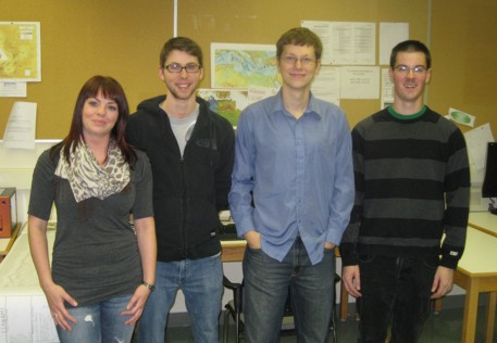 KEGS Foundation scholarship recipients Pamela Coles, Matthew Baird, Dylan Goudie, and Nathan Corcoran.